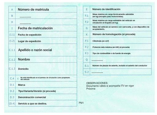 T&S Oficanarias- Permiso de circulación